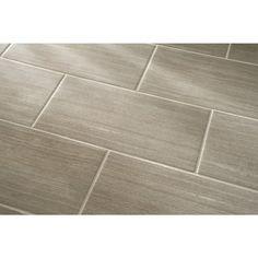 Shop Style Selections Cityside Gray Porcelain Floor Tile
