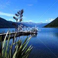 Lake Rotoroa, Nelson Lakes National Park, NZ Royalty Free Stock Photo Image Now, Nature Photos, Simply Beautiful, Lakes, Reflection, Waterfall, National Parks, Royalty Free Stock Photos, Landscape