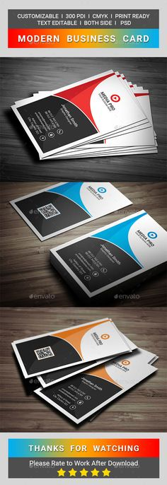 Modern Business Card - Business Cards Print Templates Download here : https://graphicriver.net/item/modern-business-card/17543296?s_rank=74&ref=Al-fatih
