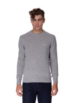 Maison Kitsuné - Fall Winter 2015 - Menswear // Grey sweater in lambswool