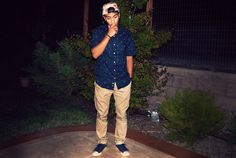 Matthew Nario - Supreme Camel Camp, Old Navy Palm Trees, Mistersfc Chinos, Converse Corduroy - Palm Trees & Pools