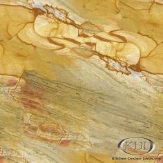 Golden Macauba Granite  (Kitchen-Design-Ideas.org)