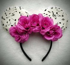 Minnie Mouse Music Ears!  Check out this item in my Etsy shop https://www.etsy.com/listing/572239487/minnie-mouse-inspired-music-ears