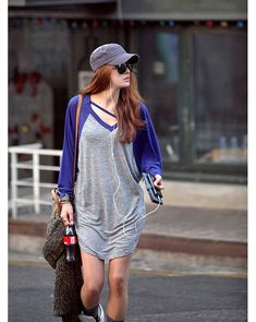 2dfec4b6 Free Shipping Loose-Fitting V-Neck Batwing Long Sleeve Casual Casual T  Shirts,
