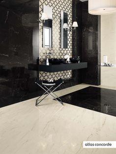 #MARVELPRO cremo delicato & noir st laurent   #AtlasConcorde   #Tiles   #Ceramic  