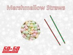 This fun marshmallow game is a great idea for any christmas party this year! Check out our other great ideas and decorations at www.5050factoryoutlet.com  #christmas #craft #kidsactivity #party #holiday #fun #party #partystore #supplies #games #decorations #marshmallow #candy #treat #yummy #food #fun
