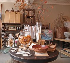 French Larkspur: The Frenchman's Wife ~ New Shop-see the laundry cart??