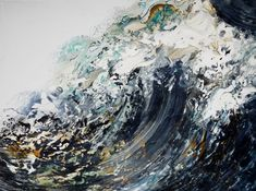 Artists who are Inspired by Water - paint, pastel, collage & textiles The Arty Teacher Maggi Hambling, Art For Art Sake, Ocean Art, Cool Drawings, Abstract Art, Abstract Paintings, Oil On Canvas, Art Photography, Art Gallery