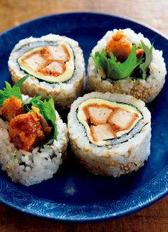 Pork cutlet sushi.