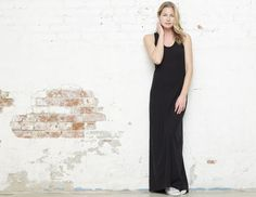 James Perse Maxi Dress, these come and go FAST, mine has long sleeves but they are FAB! aprox 165.00$ Wear all day.