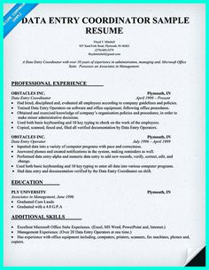 Your data entry resume is the essential marketing key to get the job you seek. The resume including for the data entry specialist resume must be well ... data entry on a resume and data entry clerk resume no experience Check more at http://www.resume88.com/perfect-data-entry-resume-samples-get-hired/