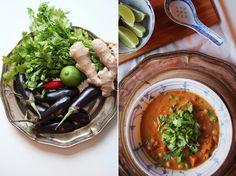 happyfoodstories: Spicy thaisuppe m. søtpotet & aubergine