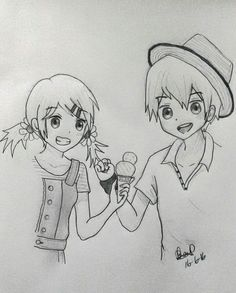 Images For Anime Girl And Boy Holding Hands Drawing Besties