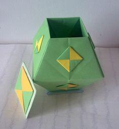 Origami Box – Trapezoidal - auf der Suche nach dem Diagram in www habe ich noch nichts gefunden - schade
