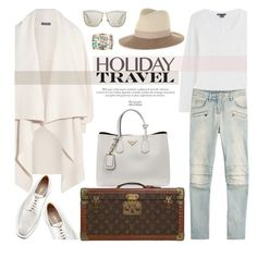 """""""Holiday Travel"""" by stellaasteria ❤ liked on Polyvore featuring Alexander McQueen, Prada, Vince, Balmain, Louis Vuitton, rag & bone, Christian Dior and Chanel"""