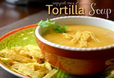 Max and Erma Tortilla Soup Copycat Recipe - I made this for Dave yesterday and he says it tastes just like the real thing!