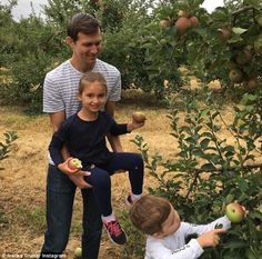 Fall fun: Earlier this month, Ivanka and her husband Jared Kushner took Arabella and Joseph apple picking in New Jersey