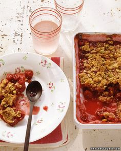 Sour Cherry-Pistachio Crisp Recipe