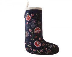 Floral Stocking Rubber Rain Boots, Stockings, Socks, Floral, Blue, Accessories, Fashion, Moda, Fashion Styles