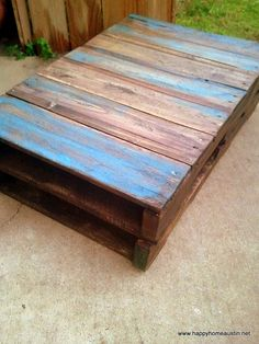 My new pallet coffee table!!!! http://www.etsy.com/shop/HappyHomeAustin?ref=seller_info