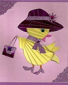Iris Folding Templates, Iris Paper Folding, Paper Folding Crafts, Iris Folding Pattern, Quilling Paper Craft, Fancy Fold Cards, Folded Cards, Dishcloth Knitting Patterns, Knit Dishcloth