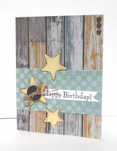 Happy Birthday Greeting Card Handmade Paper Card by sophienme, $4.25