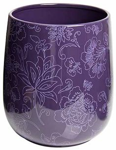 Botanica Purple Trash Can / Purple Garbage Can - definately need this at my desk!