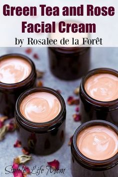 This green tea and rose facial cream is full of amazing ingredients like rose hydrosol, essential oils. Great night cream and anti aging eye cream.