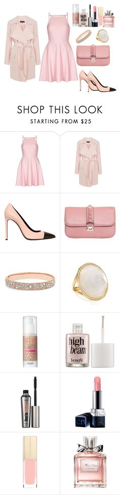 """Date Night!"" by fabuliciousfi ❤ liked on Polyvore featuring Oh My Love, Warehouse, Yves Saint Laurent, Valentino, FOSSIL, Ippolita, Benefit, Christian Dior and Dolce&Gabbana"
