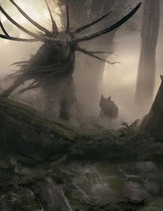 """Symbaroum RPG: """"They are called abominations, the blight-stricken creatures that have been twisted by the corrupt powers of Davokar. Some of them were once humans or beasts, some came into being during the age of Symbaroum, others are said to have walked the earth since the dawn of time."""" (Image: Järnringen)"""