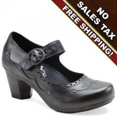 Dansko makes great clogs for women but have you ever tried their super flashy and oh so comfortable heels? The women's Nevin high heel in graphite brush off leather is sophisticated and comfortable. This versatile mary jane heel for women by Dansko features nail heading detail and scalloped stitching. The Nevin by Dansko looks great with everything!