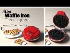 Creating Dollhouse Miniatures/mini waffle iron tutorial