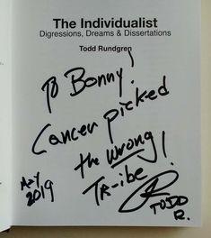 Todd Rundgren, Thing 1, Cancer