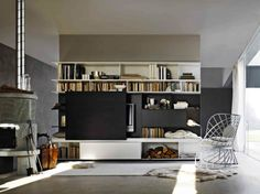 Glass House, Giussano, Italy - Molteni & C. Built In Daybed, Gio Ponti, Modern Tv Wall Units, Art Deco, Interior Concept, Contemporary Interior Design, Sofa, Construction, Glass House