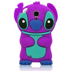 Purple 3D Cartoon Soft Silicone Case Cover for Samsung Galaxy S4 i9500