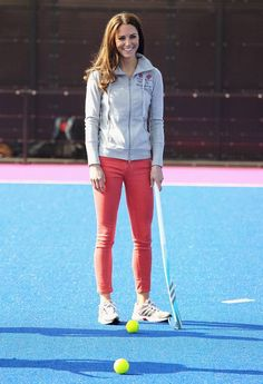 The Duchess of Cambridge playing hockey