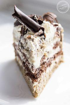 Cappuccino cake – Pastry World Best Dessert Recipes, Just Desserts, Sweet Recipes, Delicious Desserts, Cake Recipes, Lemon Cream Cake, Fruit Birthday Cake, Chocolate Dipped Fruit, Polish Recipes