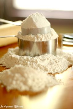 A helpful Cake Flour Substitute when you don't have any on hand. From TheGraciousWife.com
