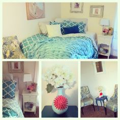 For Ashley's room. She cares about her room but isn't insanely creative, typical girl color palette