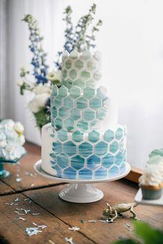 pastel wedding cake emily wren cake life Pastel Wedding Cakes, Beautiful Wedding Cakes, Gorgeous Cakes, Pretty Cakes, Pastel Weddings, Pastel Cakes, Blue Weddings, Spring Weddings, Indian Weddings