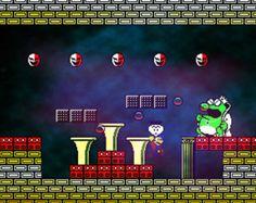 Video Game Art - Super Mario 2 - Digital Art Print - Nintendo Tribute
