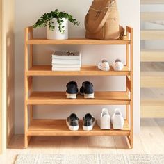 Products Dotted Line™ 12 Pair Stackable Shoe Rack If you buy seeds then plant them according Diy Shoe Rack, Shoe Racks, Entryway Shoe Rack, Shoe Rack Bedroom, Shoe Storage Mudroom, Small Shoe Rack, Wood Shoe Rack, Bedroom Storage, Home Decor Ideas