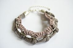 mauve gudbling #bracelet #handmade