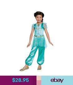 Costumes Jasmine Classic Child Girls Costume Aladdin Disney Princess Fancy Dress Disguise #ebay #Fashion