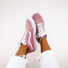 Sneakers in cutest shade of pink.