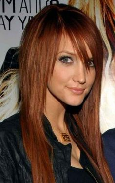 Ashlee Simpson's edgy long hairstyle.