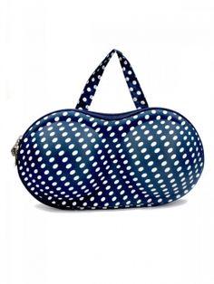Hoppingo | Estonished Navy Blue Lingerie Bag