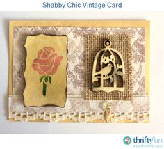 Use a selection of embellishments and stamping techniques, and create a vintage birthday card for an older lady. It can also be turned into a beautiful Mother's Day card. Vintage Birthday Cards, Vintage Greeting Cards, Diy Cards, Handmade Cards, Mother's Day Diy, Mothers Day Crafts, Vintage Crafts, Ink Pads, Creative Crafts