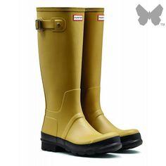 New Hunter Men's Original Two Tone Tall Wellington Boots – Light Olive