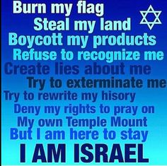 Israel is here to stay!!